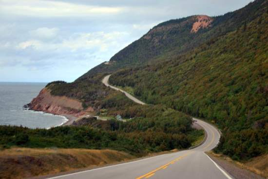 Driving the Cabot Trail in Nova Scotia, Canada